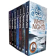Ann Cleeves Shetland Series Collection 7 Books Set (Book 1-7) (Blue Lightning, Raven Black, White Nights, Red Bones, Cold Earth, Thin Air, Dead Water)