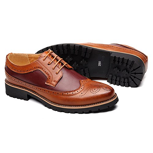 Zapatos Tallado Casuales Boda Desgaste Hombres De Desgaste Zapatos Brown De Resistente De Coreano para Antideslizante Vestir Exquisito Zapatos LQV Red De Deslizamiento Bullock Negocios Al OUxntwP