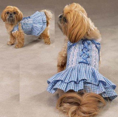 - Zack & Zoey - Southern Belle Dog Dress - Color: Blue - Size: X-Small (XS)