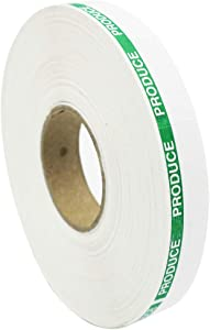 Amram White and Green Produce Labels for Monarch 1110, 1 Sleeve of 17,000 Labels; Includes 1 Replacement Ink Roller