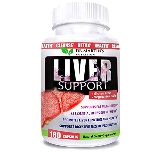 Liver Cleanse, Detox & Repair | 180 Veggie Capsules | Liver Detoxifier & Regenerator Supplement Blend with 22 Vital Herbs inc. Artichoke Extract, Milk Thistle & Dandelion to Support Immune System |