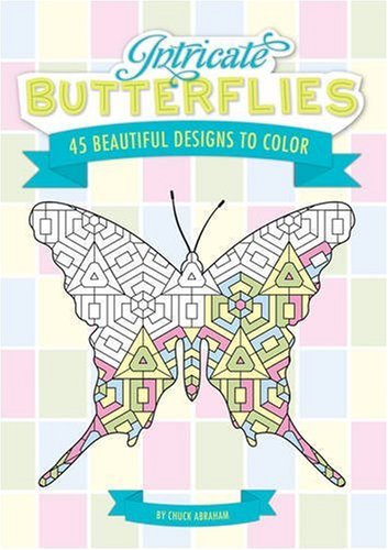 Download Intricate Butterflies: 45 Beautiful Designs to Color! pdf