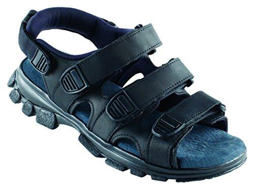 Euro-Dan Walki Sandale mit Klettverschluss, schwarz O+E+A+SRC
