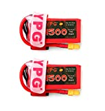 GARTT 2 Packs YPG 4S 14.8V 1500mAh 70C LiPo Battery with XT60 Plug For RC Mini Racing Drone FPV Quadcopter, Perfect For 210 Quad Frame, Eachine Wizard x220, 250 Racer, AR Drone 2.0, Walkera F210, etc.