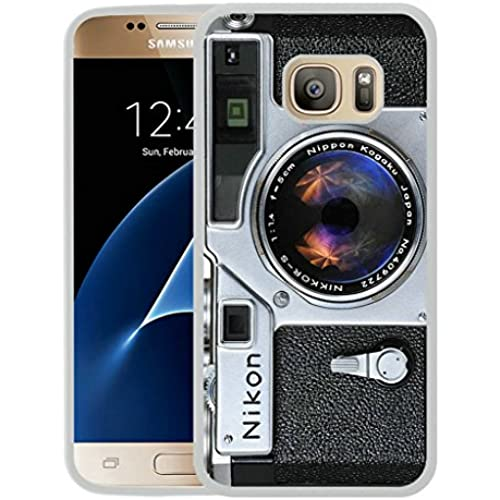 Galaxy S7 Case,S7 Case,Vintage Travel Camera Creative Novelty Case For Samsung Galaxy S7 - White TPU Case Sales