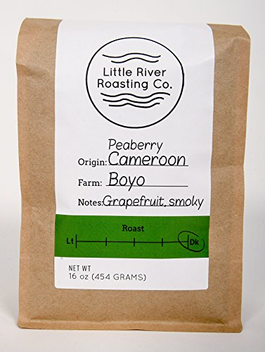 Little River Roasting Cameroon Boyo Peaberry Belo Farmers French Roast (Ground, 1 Pound)