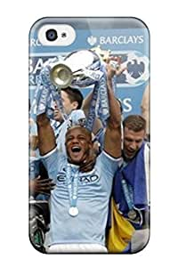 For Iphone 4/4s Protector Case Manchester City 2014 Epl Champions Phone Cover