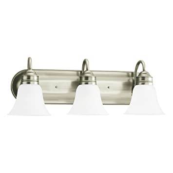 Sea gull lighting 44852 965 gladstone three light bath or wall light sea gull lighting 44852 965 gladstone three light bath or wall light fixture with aloadofball Gallery