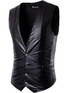 SHOWNO Men Classic Business Waistcoat Double-Breasted Sleeveless Dress Vest