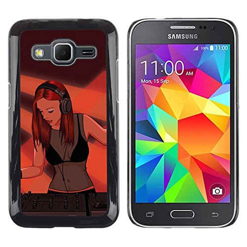 [Neutron-Star] Snap-on Series Plastic Back Case Shell Skin Cover for Samsung Galaxy Core Prime [Dj Sexy Woman Girl Redhead Ginger Art (Sexy Ginger)