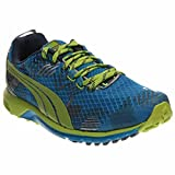 PUMA Men's Faas 300 TR V2 Nightcat Camo Running Shoe,Methyl Blue/Majolica Blue/Lime Green,7 M US