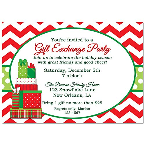 Christmas Gift Exchange.Amazon Com Christmas Party Invitation Gift Exchange Party