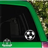 "Grain To Glass Designs Soccer Ball Vinyl Car Decal - 6"" White"