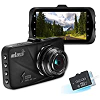 HD 1296P Dash Cam With 32GB SD Card, Napoer 170 Wide View Dashboard Camcorder Vehicle Camera with G-Sensor, Night Vision, WDR, Motion Detection