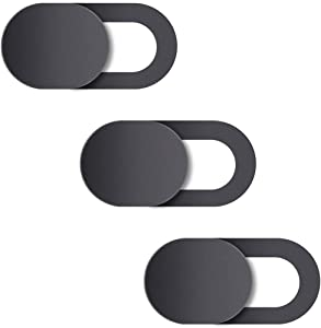Natipo Webcam Cover, Camera Cover Slide, Ultra-Thin Webcam Cover Slide Compatible for Laptop Desktops, MacBook, PC, Tablet, Cell Phone and More Accessories -Protect Your Privacy Security (3-Pack)