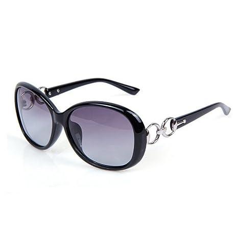 Daorier Gafas de sol polarizadas, Protección UV, moda, mujer, gran montura, Gafas de seguridad, resistentes al sol, Lila, plástico, negro, talla única