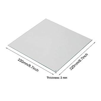 Impresora 3D - Placa de vidrio de borosilicato 220 x 220 x 3 ...