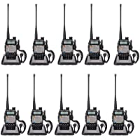 Bao Feng UV-5R Upgrade Version UV-5XP Extended Battery VHF UHF Two Way Radio 7.4v 8W Dual-band Walkie Talkie 10 Pack