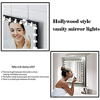 Hollywood Vanity Lights Plug In : Hollywood Style Vanity Mirror Lights Makeup Mirror Lights Anti-Glare Luxurious LED Lights for ...