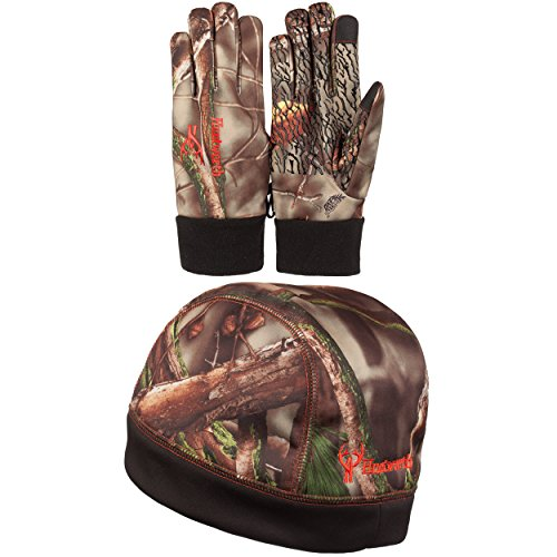 Men's Oaktree Camo Men's Classic Hunting Touch Screen Glove And Insulated Beanie Set (L/XL)