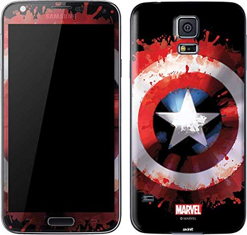 Skinit Captain America Shield Galaxy S5 Skin - Officially Licensed Marvel/Disney Phone Decal - Ultra Thin, Lightweight Vinyl Decal Protection