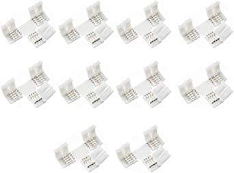 5050 RGB LED-Streifenlicht-Eckanschlüsse L-förmige Adapter 90º-Verbindung