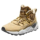 RAX Men's Lightweight Leather Hiking Boots Warm Outdoor Walking Shoe(Khaki, 11.5)