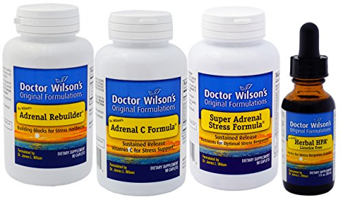 Dr. Wilson's Adrenal Fatigue Quartet (90 Count with HPA 1oz) by Doctor Wilson's Original Formulations