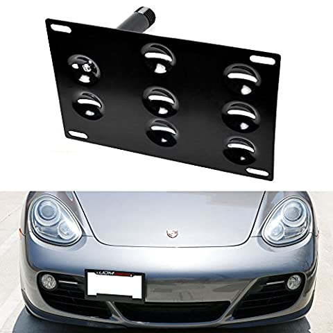 iJDMTOY Euro Style Front Bumper Tow Hole Adapter License Plate Mounting Bracket For 2nd Gen 2006-2013 Porsche Cayman, 2005-2012 Porsche Boxster - 2006 Tow Bar