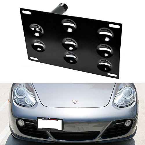 ijdmtoy-front-bumper-tow-hole-adapter-license-plate-mounting-bracket-for-2nd-gen-2006-2013-porsche-c
