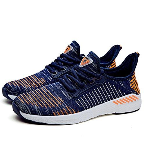 Ginnastica Running Scarpe Basse Uomo Donna Da Sport blu Corsa Sportive Gym Sneakers Suadeex Shoes Casual Arancione Basket Outdoor Enwq8X0xq
