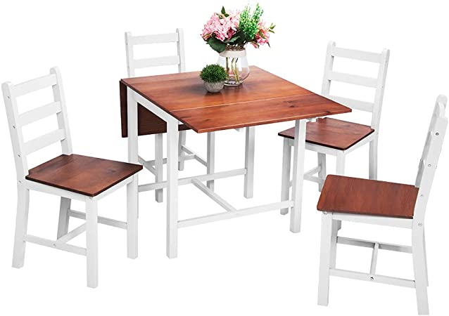 Ensemble Table Pliante En Bois 4 Chaises Pour Salle A Manger