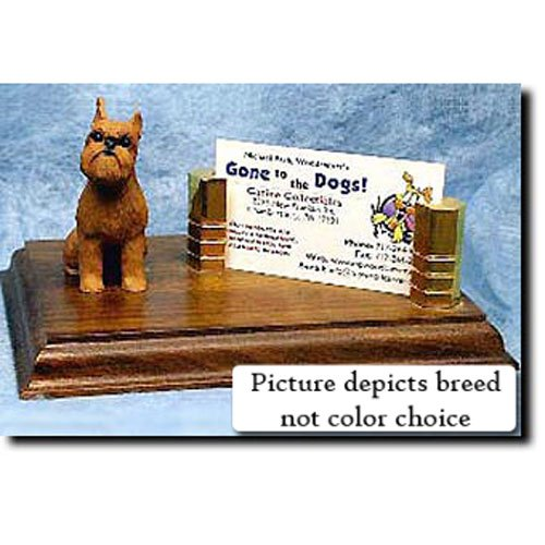 Brussels Griffon Business Card Holder - Michael Park Brussels Griffon (Tan) Business Card Holder