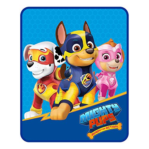 (Kids Warehouse Paw Patrol Mighty Pups Silky Soft Throw Blanket - Soft, Plush and Comfortable)