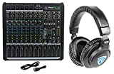 Mackie PROFX12v2 Pro 12 Ch Compact Mixer w Effects, USB PROFX12 V2 + Headphones