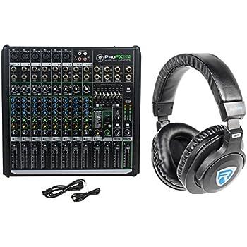 mackie profx12v2 pro 12 ch compact mixer w effects usb profx12 v2 headphones. Black Bedroom Furniture Sets. Home Design Ideas