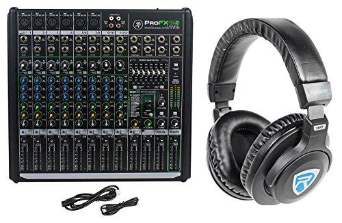 Mackie PROFX12v2 Pro 12 Ch Compact Mixer w Effects, USB PROFX12 V2 + Headphones