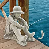 Design Toscano Fishing Fisherman Boy Garden Statue