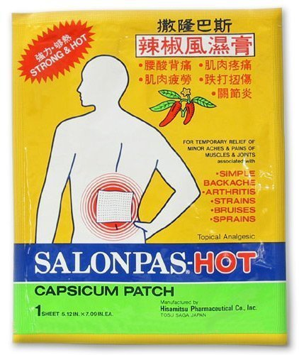 - Salonpas Hot Capsicum Patch, 20 Count