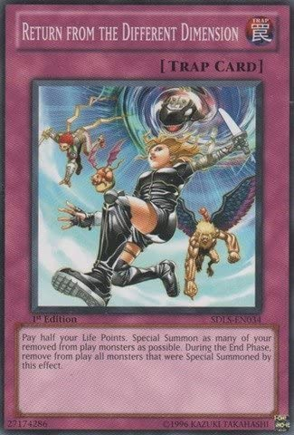 SDLS-EN029 1st Edition Nea YuGiOh Burial from a Different Dimension Common
