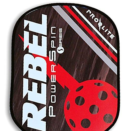 ProLite Rebel PowerSpin Pickleball Paddle - Dean Red / Cash Black by Pro-Lite