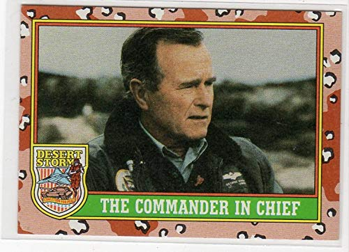 (George H.W. Bush Topps Desert Storm Commander In Chief Trading Card)