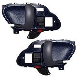 Driver and Passenger Inside Inner Blue Door Handles