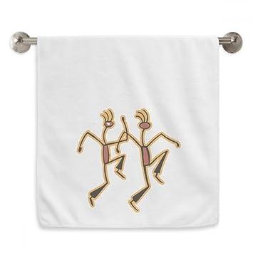 DIYthinker Egipto Figura del Baile Divertido patrón Circlet Blanca Toallas Suaves Toalla Toallita 13X29 Pulgadas 13 x 29 Pulgadas Blanco: Amazon.es: Hogar