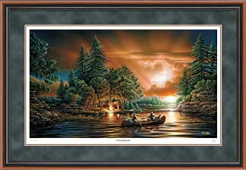 evening rendezvous by terry redlin limited edition framed print of 9500 signed numbered