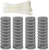 40 Pieces Lint Traps Stainless Steel