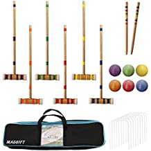 Maggift Six Player Croquet Set with Carrying Bag, 26-Inch