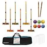 Toys : Maggift Six Player Croquet Set with Carrying Bag, 26-Inch