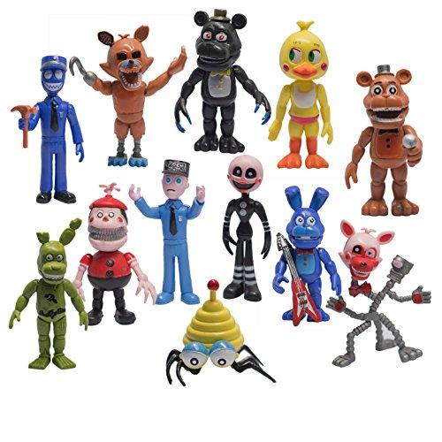 "Mr Bigz Fnaf Five Nights at Freddy's Action Figures Toys Dolls (12 Piece), 4"""