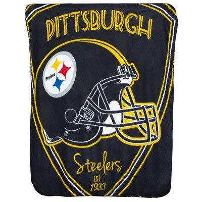 The Northwest Company Team Logo Soft Fleece Throw Blanket, 40 in x 50 in (Pittsburgh Steelers) - Pittsburgh Fleece Throw